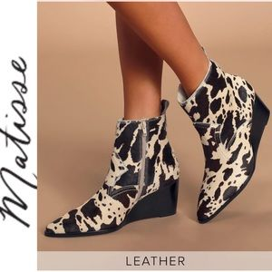 🆕 Matisse Black & White Wedge Ankle Boots